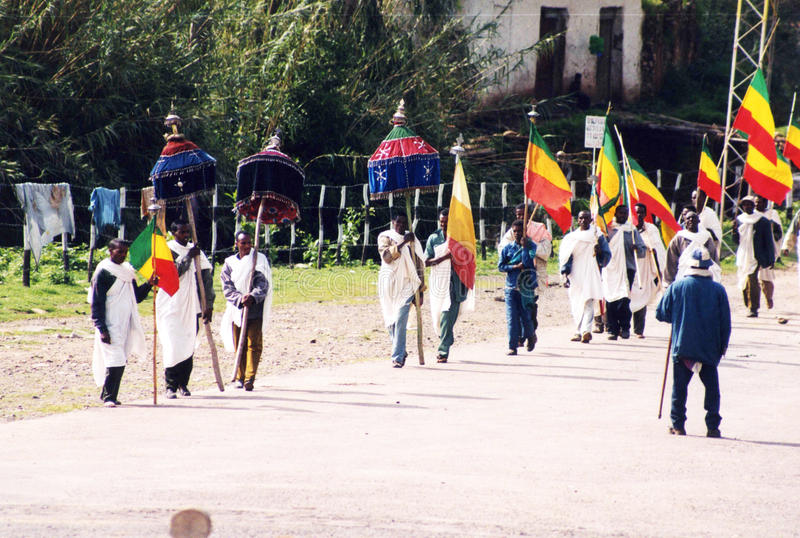 Ethiopian funeral royalty free stock photo
