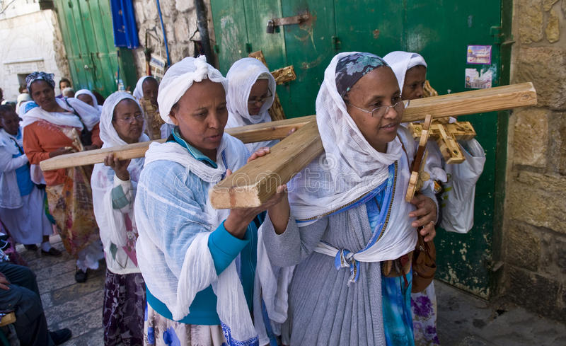 Ethiopian Good Friday royalty free stock photography