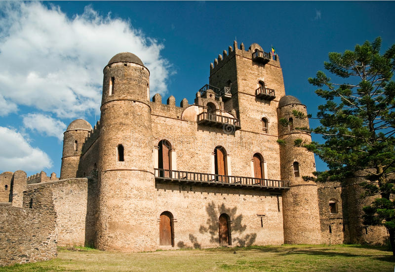 Ethiopian kings castle in gonder gondar ethiopia stock photos