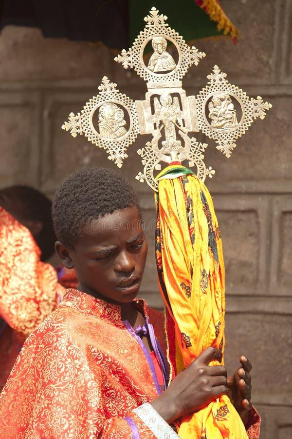 Ethiopian orthodox procession, in Ethiopia. Traditional procession of ethiopian orthodox church stock image
