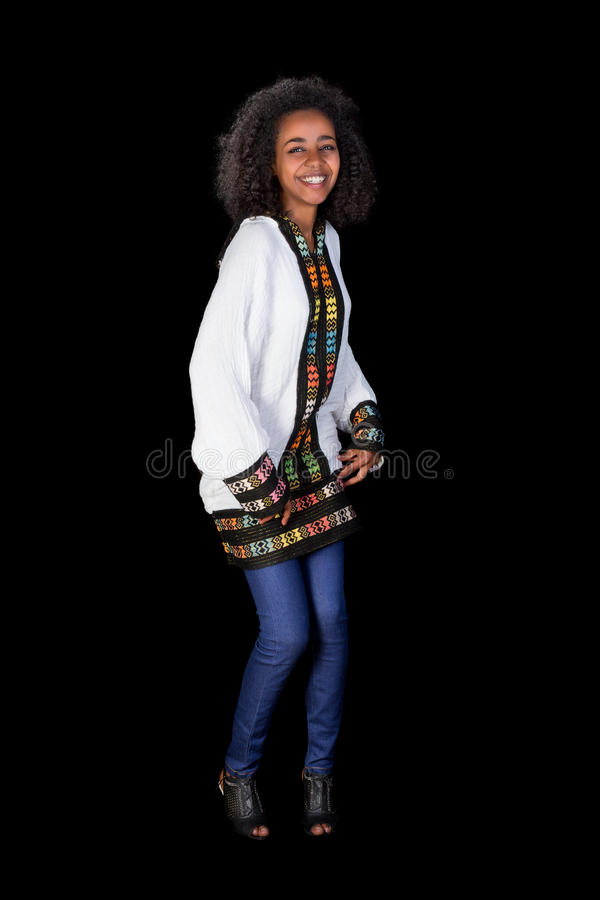 ethiopian skulder för dans royaltyfri bild