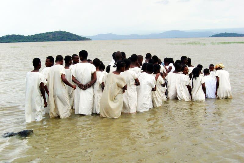 Ethiopisch doopsel stock afbeeldingen