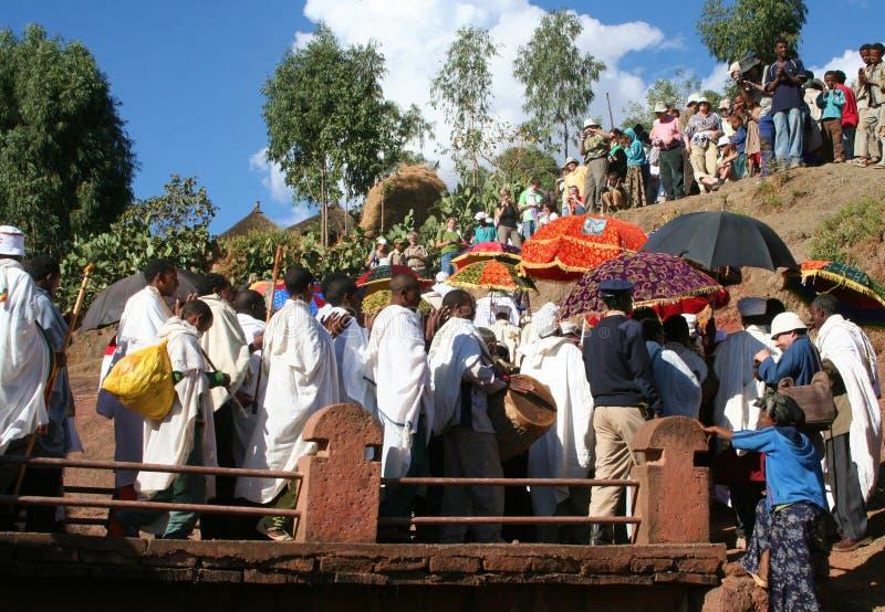 Ethiopisch festival Timkat stock afbeelding