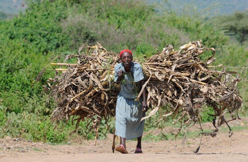 Ethiopische mensen stock foto's