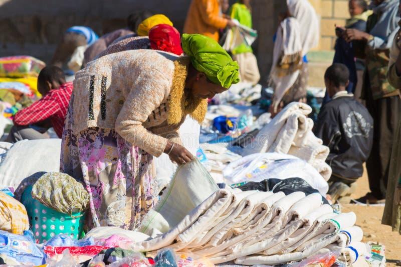 Ethiopische straatmarkt royalty-vrije stock foto's