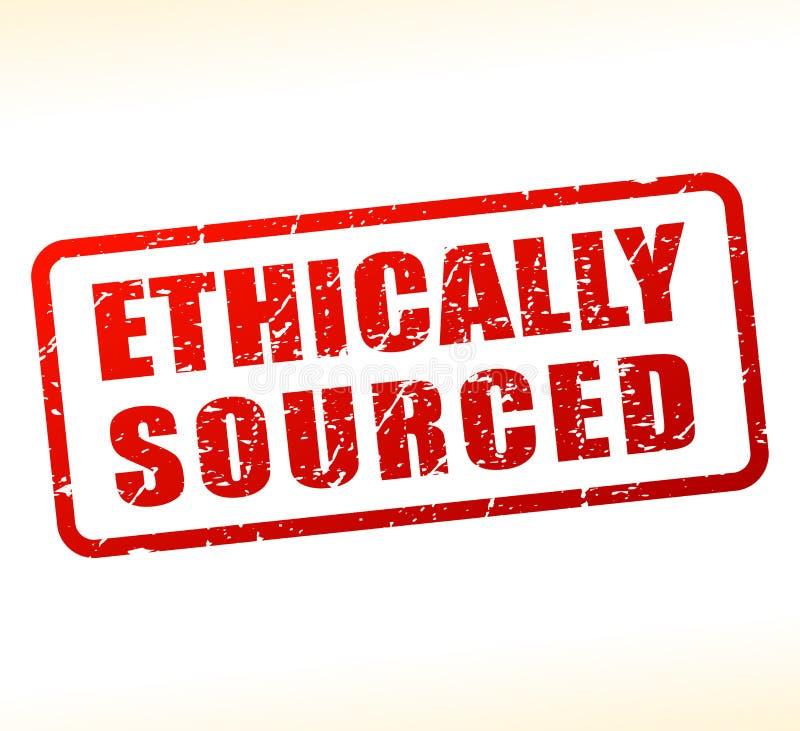 Ethisch afkomstige als buffer opgetreden voor tekst royalty-vrije illustratie