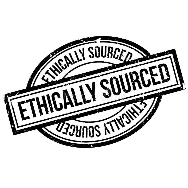 Ethisch Afkomstige rubberzegel stock illustratie