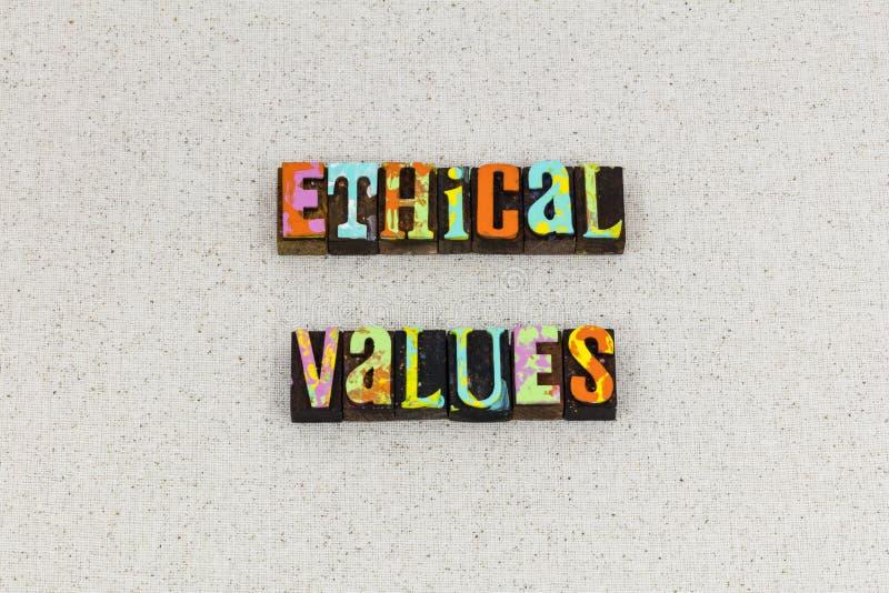 Ethisch de principesgedrag van de waardenethiek royalty-vrije stock foto's