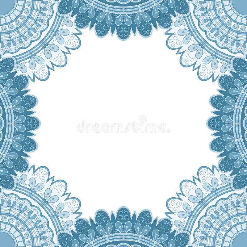 Ethisch decoratief frame vector illustratie