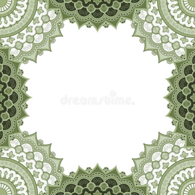 Ethisch decoratief frame royalty-vrije illustratie