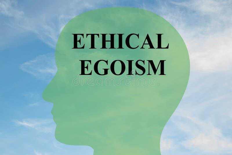 Ethisch Egoïsmeconcept royalty-vrije illustratie