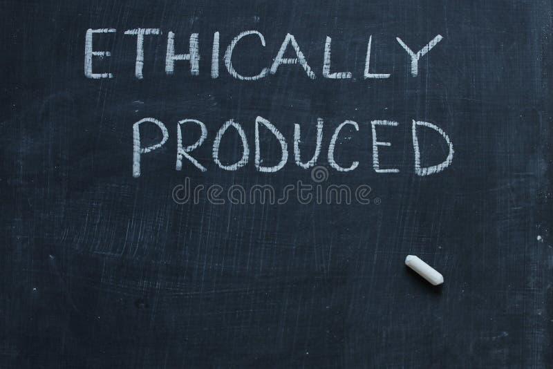 Ethisch Geproduceerd stock afbeeldingen