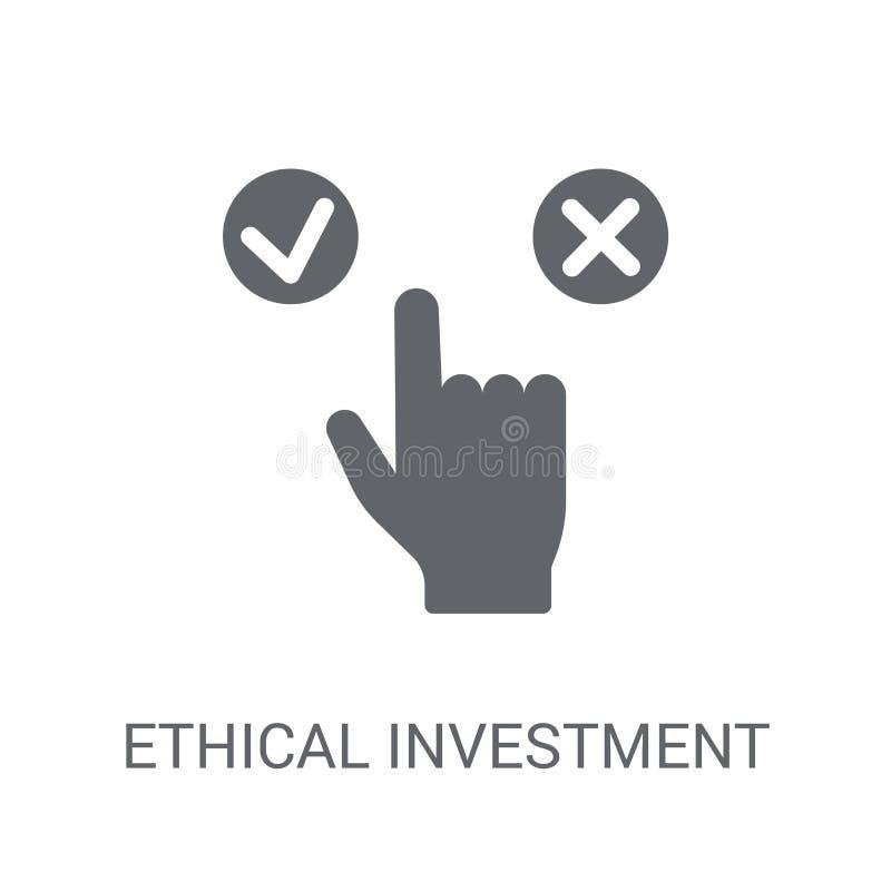 Ethisch investeringspictogram  royalty-vrije illustratie