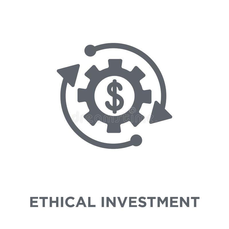 Ethisch investeringspictogram van Ethische investeringsinzameling royalty-vrije illustratie
