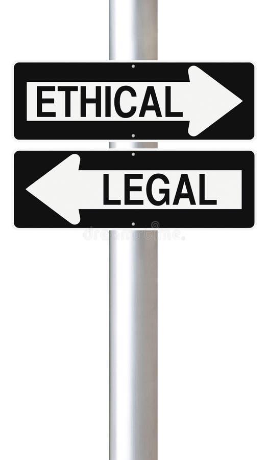 Ethisch of Wettelijk vector illustratie