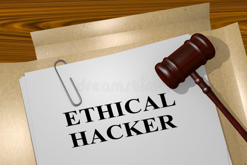 Ethische Hakker - juridisch begrip royalty-vrije illustratie