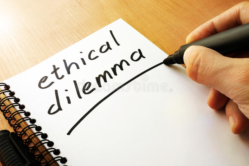 Ethisches Dilemma stockfotos