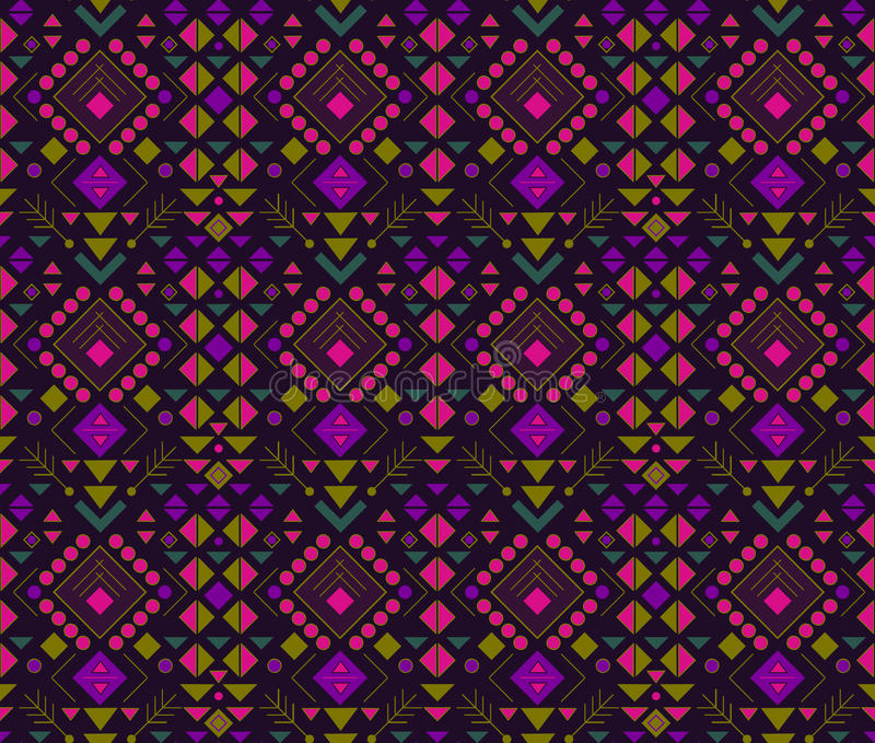 Ethnic abstract pattern. royalty free stock image