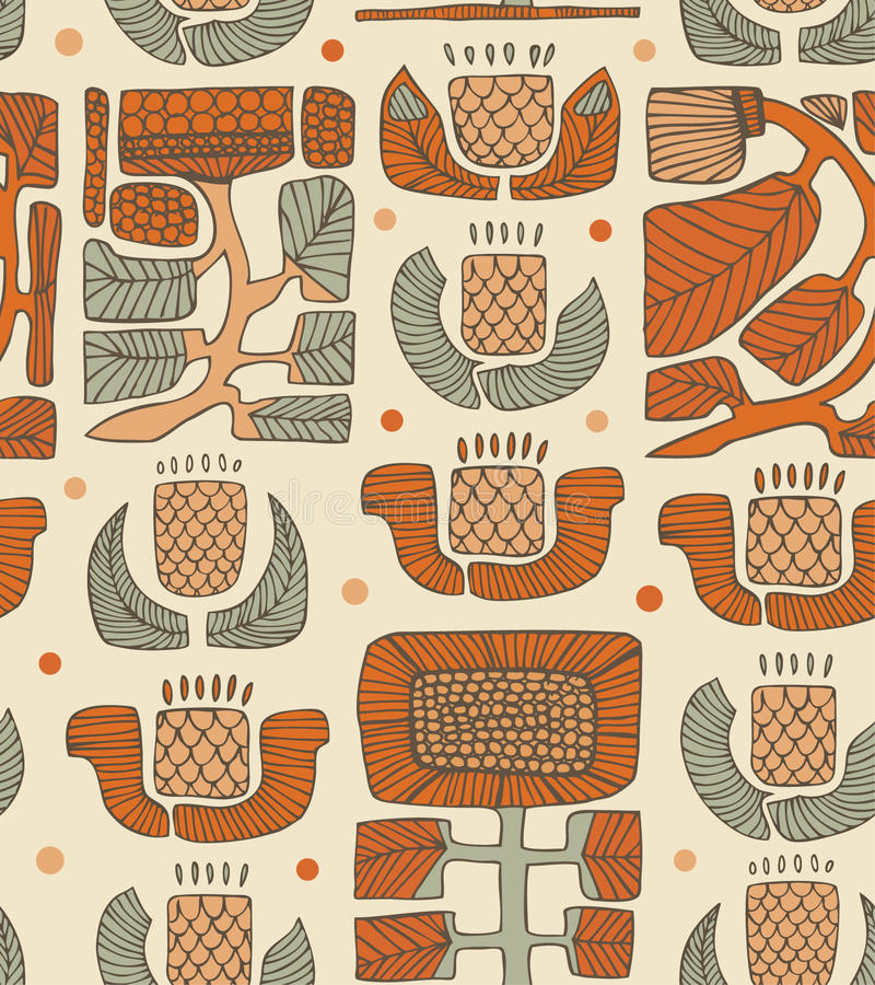 Ethnic abstract pattern royalty free illustration