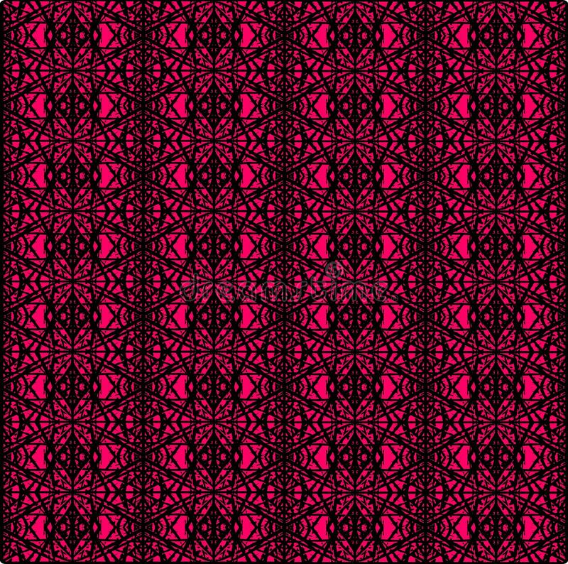 Ethnic abstract pink and black seamless pattern for textile , ceramic tiles or backgrounds royalty free illustration