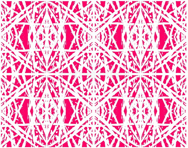 Ethnic abstract pink seamless pattern for textile , ceramic tiles or backgrounds vector illustration