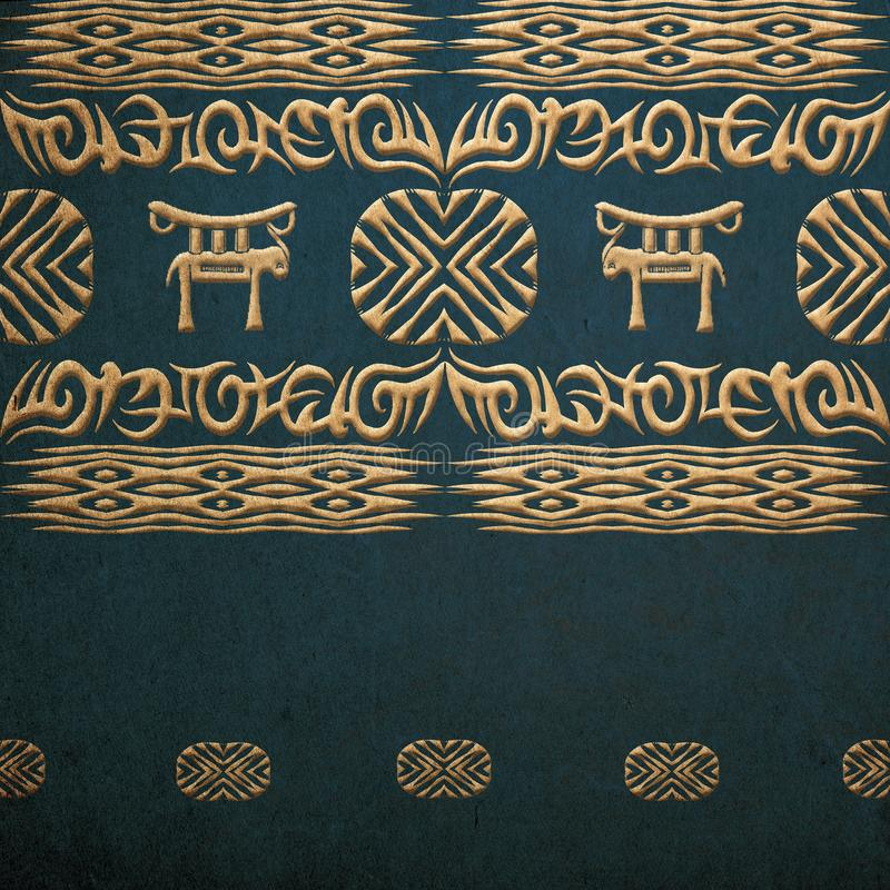Ethnic african tribal pattern royalty free stock images