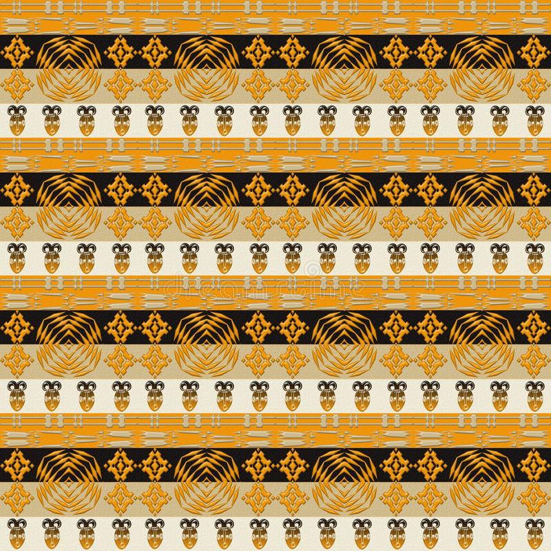 Ethnic african tribal stripes pattern. royalty free stock photo