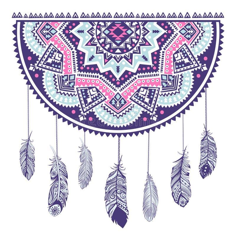 Ethnic American Indian Dream catcher stock illustration