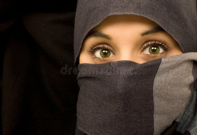Ethnic beautiful green eyes woman royalty free stock photos