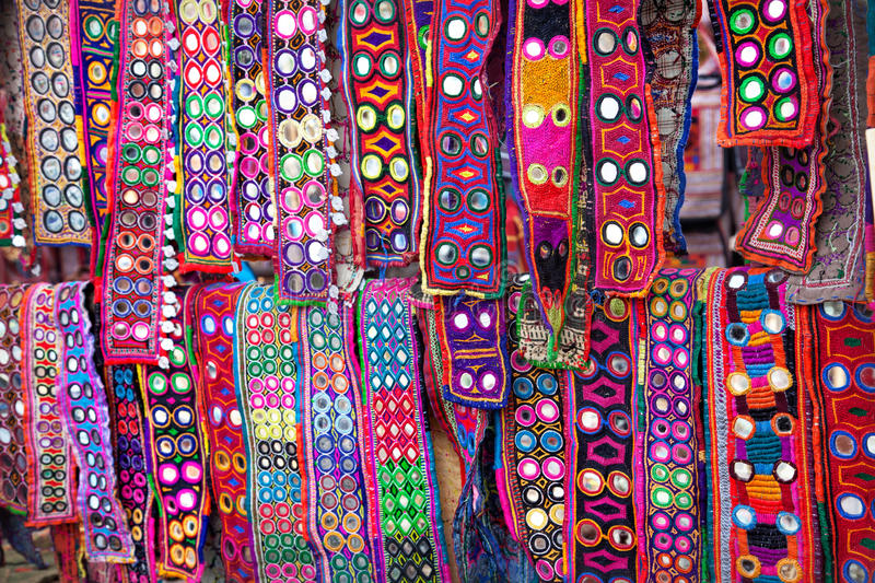 Ethnic Belts With Mirrors Royalty Free Stock Image