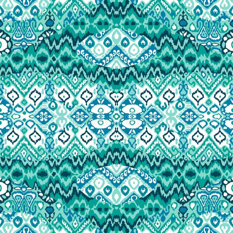 Ethnic bohemian arabesque pattern. Zigzag geometric retro abstract print. Tribal boho background vector illustration vector illustration