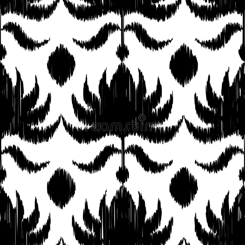 Ethnic boho black and white seamless pattern. Retro motif. royalty free illustration