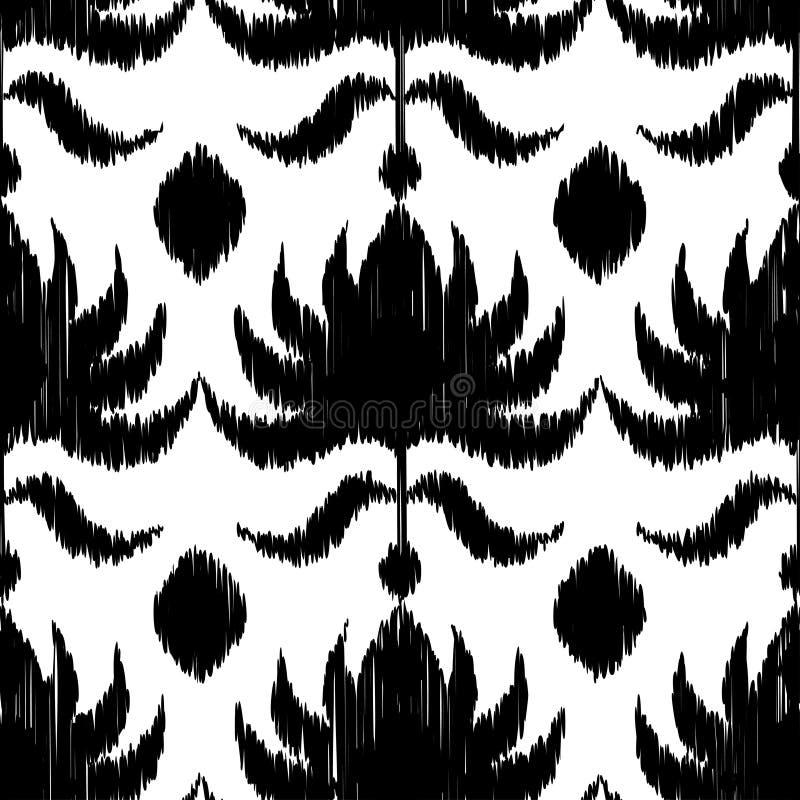Ethnic boho black and white seamless pattern. Retro motif. royalty free illustration