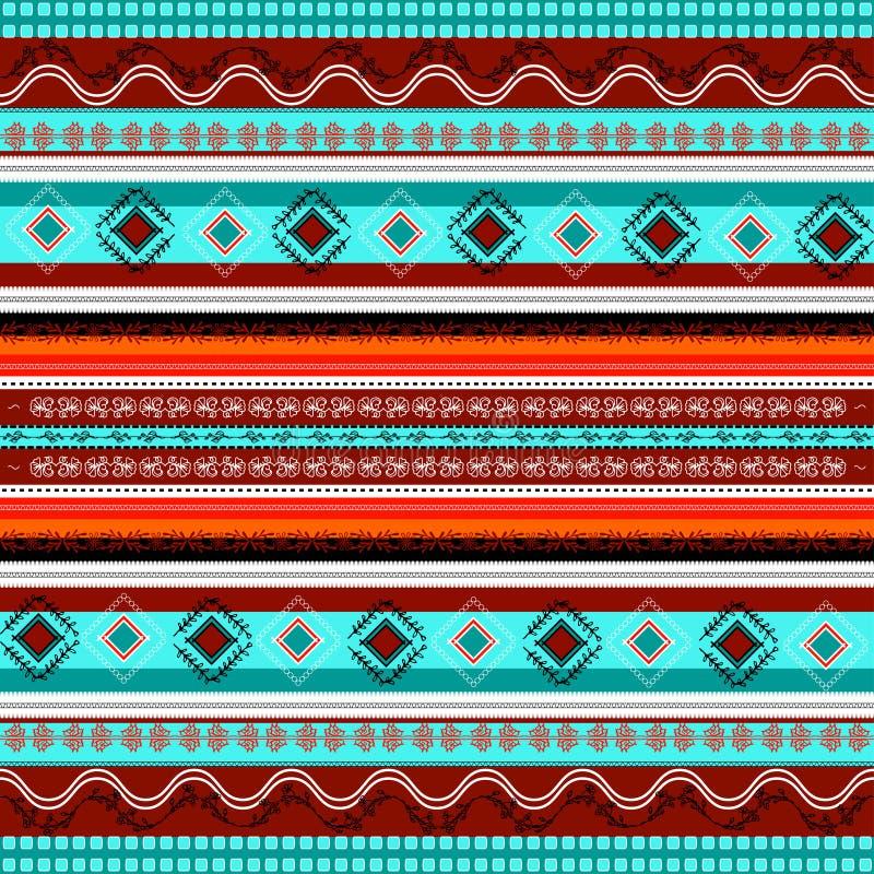 Ethnic Boho Seamless Pattern. Colorful Border Background
