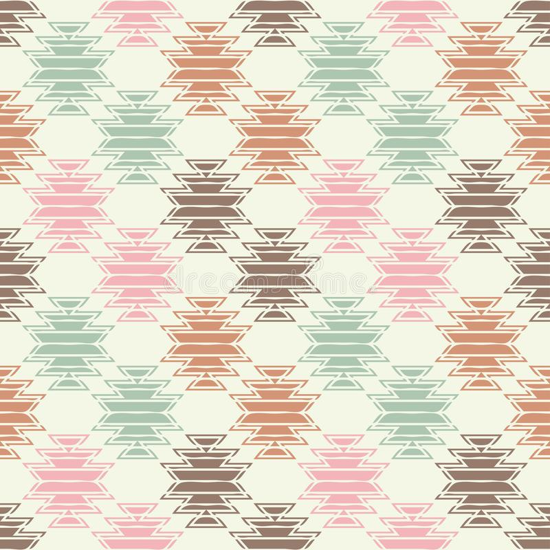 Ethnic boho seamless pattern. Hand hatching. Traditional ornament. Geometric background. Tribal pattern. Folk motif. Textile rapport vector illustration