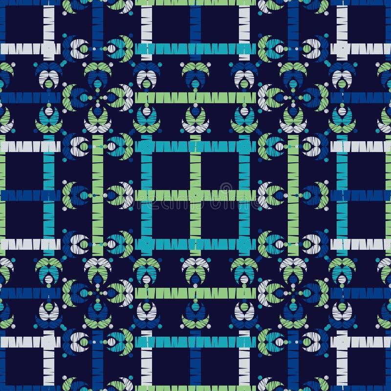 Ethnic boho seamless pattern. Ikat. Flowers. Traditional ornament. Geometric background. Folk motif. stock images