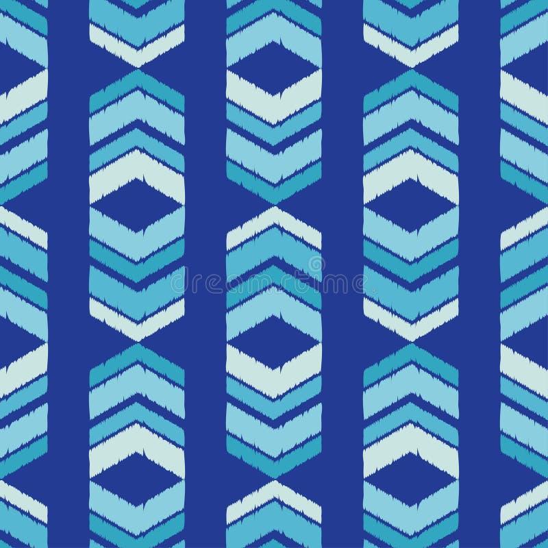 Ethnic boho seamless pattern. Traditional ornament. Manual hatching. Geometric background. Tribal pattern. Folk motif. Textile rapport royalty free illustration