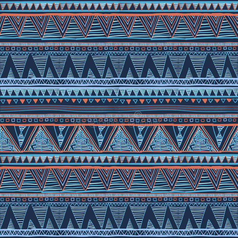 Blue Tribal Wallpapers: Ethnic Boho Seamless Pattern. Tribal Art, Aztec Print