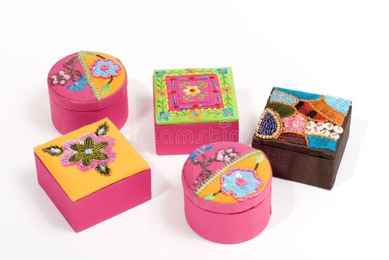 Ethnic boxes royalty free stock image