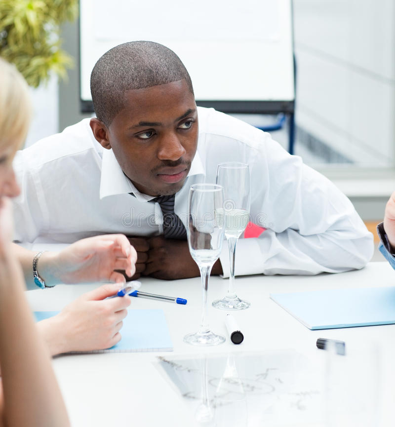 Download Ethnic Businessman In A Meeting Stock Image - Image: 10265641