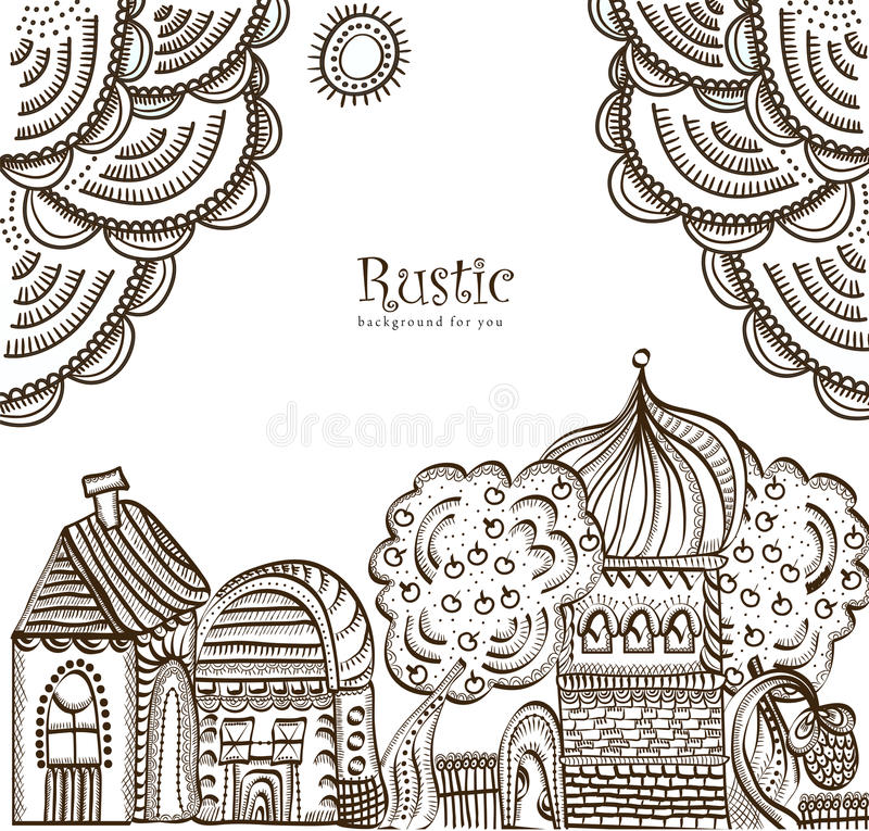 Download Ethnic City stock vector. Image of city, lace, abstract - 18780549