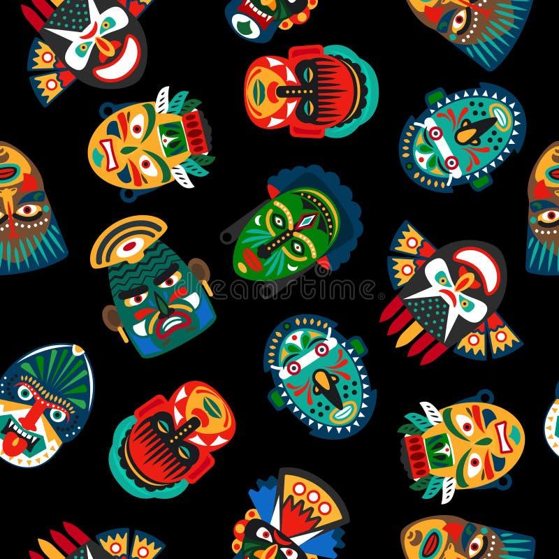 Ethnic colorful mask pattern stock illustration