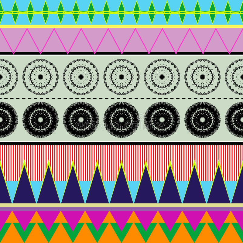 Ethnic_colors royaltyfri illustrationer