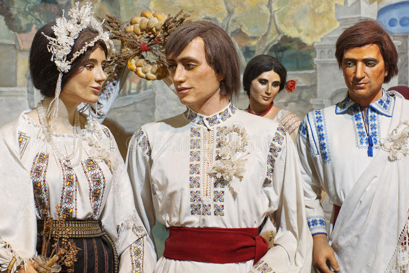 Ethnic Costumes On Mannequins Royalty Free Stock Photography