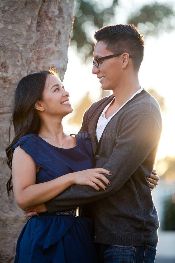 Ethnic couple royalty free stock photography