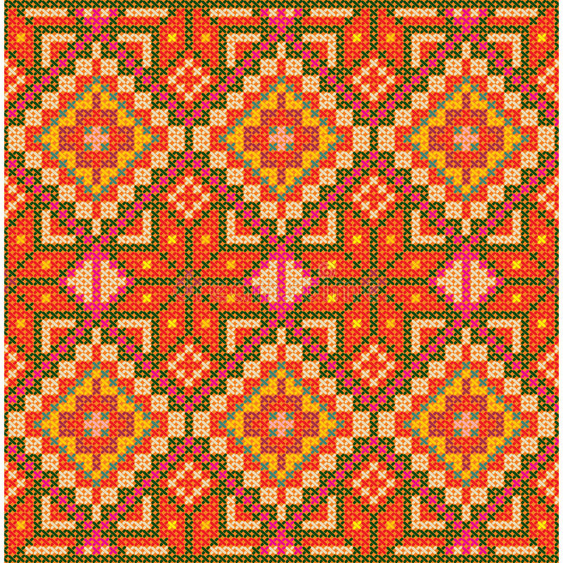 Download Ethnic Cross Stitch Pattern. Stock Vector - Image: 25306859