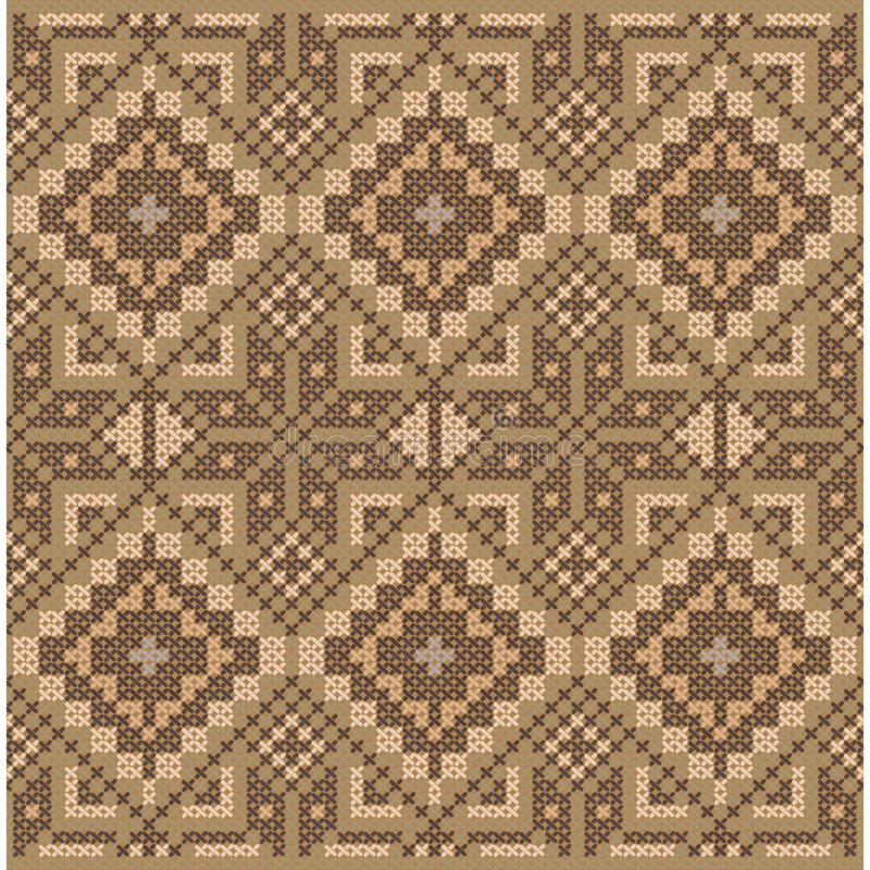 Ethnic cross stitch pattern. royalty free illustration
