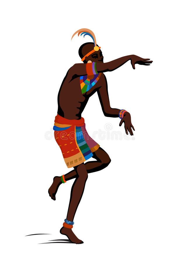 Ethnic dance african woman stock illustration  Illustration