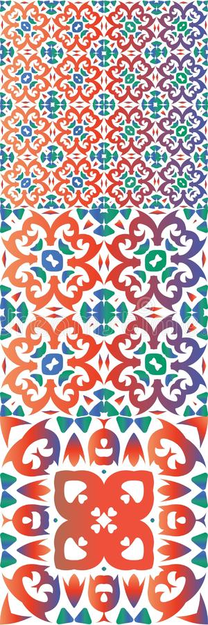 Ethnic decorative ceramic and color tiles. EPS10 vector illustration
