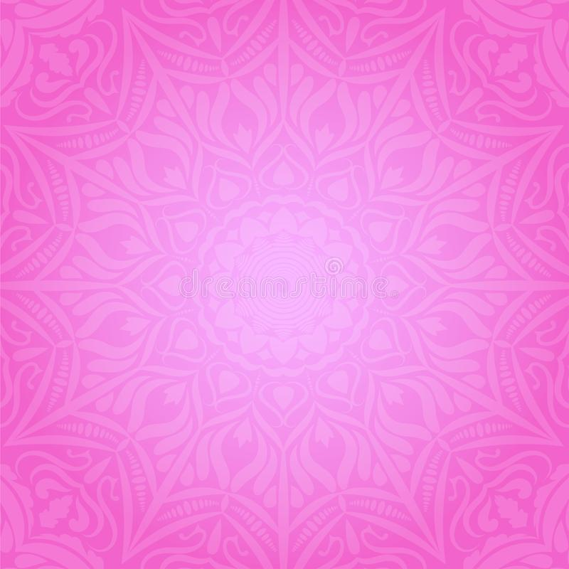 Ethnic decorative round element pink soft background stock images